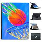 Children's Chalk Drawing of Basketball Leather Case For iPad 2, 3 & 4