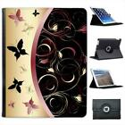 Elegant Black Butterfly Folio Wallet Leather Case For iPad 2, 3 & 4