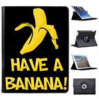 Have A Banana Folio Wallet Leather Case For iPad 2, 3 & 4