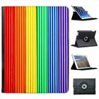 Gay Pride Rainbow colour Plasticine Folio Wallet Leather Case For iPad 2, 3 & 4