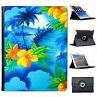 Colours Of Hawaii Palms & Yellow Flowers Folio Leather Case For iPad 2, 3 & 4