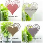 50 *Pearlized Laser Cut Heart pattern table card for wedding place cards party