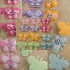 100 Butterfly Padded Applique w/ Rhinestone Bead Scrapbooking 4x3cm Pick 5 Color