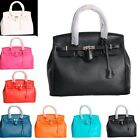 ~Chic~ Celebrity Faux Leather Hobo Vintage Faux Leather Tote Bag Multi Color