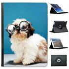 Puppy Dog Wearing Glasses Folio Wallet Leather Case For iPad Air & Air 2