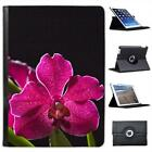 Hawaii Magenta Spotted Orchid & Green Leaves Leather Case For iPad Air & Air 2
