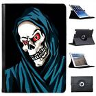 Grim Reaper With Red Glowing Eyes Folio Wallet Leather Case For iPad Air & Air 2