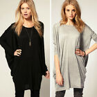 Fashion Womens Batwing Sleeve OverSize T Shirt Casual Loose Long Tops Blouse