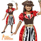 Child Pirate Captain Girl Costume Deluxe Kids Fancy Dress Outfit Book Week