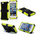 Yellow HEAVY DUTY TOUGH SHOCKPROOF WITH STAND HARD CASE COVER FOR iPhone5 5S TZJ