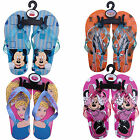 GIRLS BOYS KIDS DISNEY MICKEY MINNIE MOUSE PLANES PRINCESS FLIP FLOPS BEACH SHOE