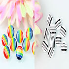 Hot Selling 50 Pcs Round Colorful Stripe Plastic Sewing Buttons Backhole 12mm