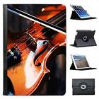 Close Up of Wooden Violin & Bow Folio Leather Case For iPad Mini & Retina