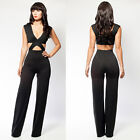 SEXY CELEB TOWIE JUMPSUIT BANDAGE BODYCON CUT OUT PARTY CLUB EVENING WEAR SZ SML