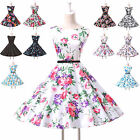 New Vintage 1950s 60s Style Floral Swing PIN UP Evening Party Dress 5 Size XS~XL