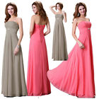 Full length Long Chiffon Evening Formal Party Ball Gown Prom Bridesmaid Dress 1