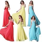 1 Wedding Bridesmaid Model Cocktail Prom Tops Beaded Gowns Formal Evening Dress