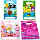 PARTY LOOT BAGS empty foil kids boy girl birthday Pirate Fairy Animal CupCakes H