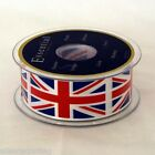 Groves Essential Union Jack Satin Ribbon 35mm 50mm wide Choice of Length