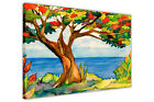 SEA VIEW TREE OF LIFE CANVAS WALL ART PICTURES SUMMER PRINTS HOME DECORATION