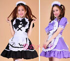 Sexy Japan Hokage purple Cosplay Dress Uniform Ruffle Lolita bar Maid Outfits