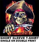 DEAD MEN TELL NO TALES PIRATE SKULL CROSSED BONES CARIBBEAN KNIFE T-SHIRT 23