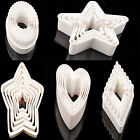 New Pastry Cookie Cutters Set,Star Round Square Shape Biscuit Sugarcraft Cutter