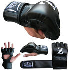 Rex Leather MMA Gloves Grappling Punch Bag Boxing Cage Fight Gloves S to XXL