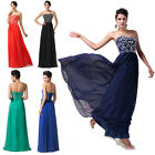 Strapless Sequins Formal Long Ball Gown Party Prom Bridesmaid Evening Dress 6-20