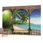 WALL MURAL PHOTO WALLPAPER (1078VEVE) Arches Tropical Beach Sea