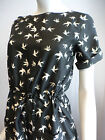 Ex WHITE STUFF Quirky Bird Print Dress 8 10 12 14 16 18 NEW (LMT Whimsy)
