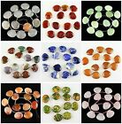J59625 30x25mm Carved kinds of stone fan loose beads 13pcs