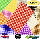 BULK 6mm Coloured DOT STICKERS Round Sticky Adhesive Spot Circles Paper Labels