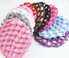 Girls women Bun Cover Snood Hair Net Ballet Dance Skating Crochet