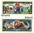 Super Mario Brothers Dollars Luigi Novelty Bill Notes 1 5 25 50 100 500 or 1000