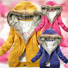 New Womens Trendy Thicken Hoodie Casual Zipper Coat Outerwear Winter Jacket Tops