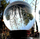 ASIAN QUARTZ CLEAR CRYSTAL BALL SPHERE 40-60-80-100-110mm+STAND