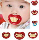 New Funny Silicone Baby Pacifiers Teether Dummy Novelty Teeth Moustache Vampire