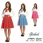 Polka Dot Skirt Dress and Scarf Outfit Girls Fancy Costume Rock n Roll 1950's