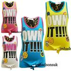 "New Girls "" OWN IT !!! "" Print Multi Color Fashion Stylish Vest Top T Shirt 7-13"