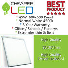 LED lighting panel commercial office or school ceiling recessed 600x600mm 45W