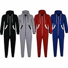 KIDS GIRLS BOYS PLAIN COLOUR ONESIE ALL IN ONE JUMPSUIT NEW STYLE WHITE DETAILS