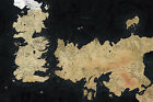 Westeros Map Game of Thrones Giant Poster - A0 A1 A2 A3 A4 Sizes Available