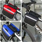 Bike Cycling Bicycle Double Pannier Mountain Frame Front Tube Saddle Bag Pouch