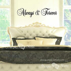 Always and Forever Words Vinyl Art Home Wall Quote Decal Sticker Decorative