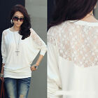 HOT! New Fashion Summer Womens Fashion Casual Lace Shirts Blouses T-Shirt Tops