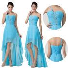 GK Sexy One Shoulder Bridesmaid Evening Gown Prom Cocktail Ball Party Long Dress