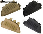 Rifle Stock Ammo Pouch Bag +Cheek Leather Pad for Left or Right Hand TAN/Black A