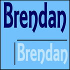 Brendan Boys Name Wall Sticker -18x40cm Interior Home Vinyl Decal Decor Sign
