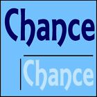 Chance Boys Name Wall Sticker -18x40cm Interior Home Vinyl Decal Decor Sign